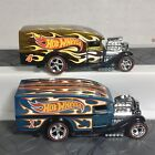 HOT WHEELS Loose Lot X2 BLOWN DELIVERY Mail In Collectors Flamed Very COOL