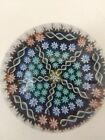 SIGNED PERTHSHIRE PAPERWEIGHT FIVE PANELS PATTERNED MILLEFIORE AND TWISTS