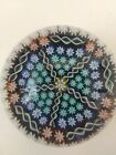 SIGNED PERTHSHIRE PAPERWEIGHT FIVE PANELS PATTERNED MILLEFIORI AND TWISTS