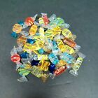 Vintage handblown art glass stripped candy approx 32 pieces