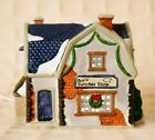 Lemax DICKENSVALE Village Porcelain BUTCHER SHOP 1994 Christmas LIGHTED HOUSE