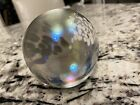 Vintage Multi Colored and Bubble Glass Paper Weight Rainbow frosted opalescent