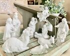 Avon Nativity Porcelain Collectibles 13 Pieces Stable Holy Family Angel