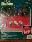 Bucilla ANGEL NATIVITY Jeweled Stitchery Christmas Tree Skirt 45 82229 NEW