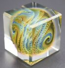 Fascinating Vibrant SMO Cube SQUARBLE Art Glass SCULPTURE Paperweight