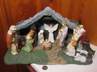 Thomas Kinkades Hawthorne Village 2002 Star of Hope Creche 11 Pc Nativity Set