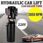 220V Car Lift Hydraulic Power Unit 264 Gallon 3HP Auto Hoist Lift Hydralic Pump
