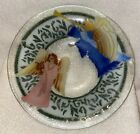 RETIRED Signed PEGGY KARR Art Fused Glass Bowl Heavenly ANGELS 11