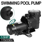 15HP In Above Ground Swimming Pool Pump Spa Motor Strainer 115 230V High Flow
