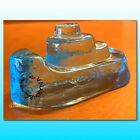 V NASON Italy Murano Glass Blue Boat Signed V NASON VINTAGE COLLECTABLE