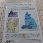 NEW CLAIRES CATS Vol 2 PATTERN  BOOK Applique designs IN THE HOOP SO CUTE