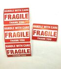 Handle With Care Fragile Stickers Red Stickers For Shipping Packages 2x3