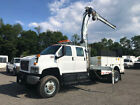 2008 GMC C7500 Utility Knuckle Boom Crane Service Truck Used 4X4 Crew Cab Diesel