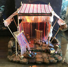 Fontanini Heirloom Nativities Weavers Shop Lighted For 5 Nativity IN BOX