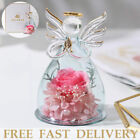 Forever Rose in Angel Glass Mothers Day Beautiful Romantic Love Girl Women Gift
