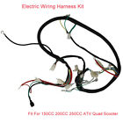 Electric Wiring Harness Kit Ignition Coil Spark Plug Fit For 200CC Quad Scooter
