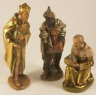 Anri 6 Nativity Holy Family Three Wise Men Kuolt Wood Carving