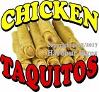 Chicken Taquitos Decal Choose Your Size Food Truck Sign Restaurant Concession