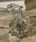 Swarovski Crystal Swan Hanging Ornament Preowned 2 Small