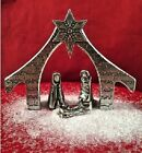 Crosby and Taylor Pewter Miniature Nativity Set 4 Pieces Handcrafted New