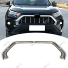 For 2019 2020 Toyota RAV4 Chrome Front Grill Grille Decorative Cover Trim Strips