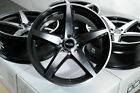 15 Wheels Honda Accord Civic Miata Clubman Cooper Corolla Yaris Black Rims 4