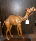 Vintage Handcrafted Italian Leather Clad Dromedary Camel Figurine Sculpture