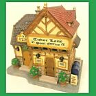 Lemax Xmas Village Tudor Lane Post Office 2013 Caddington Blue Mail Box Retired