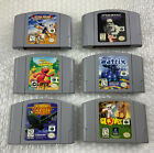 Lot of 6 Nintendo 64 Games Carts Only Tested Working Rogue Squadron Glover