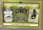 2020 Leaf Metal All-American Bowl Sealed Football Hobby Box - 8 Auto Cards per