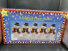 VINTAGE CHRISTMAS TREASURES 5 LIGHTED LAWN STAKES SNOWMAN BLOW MOLD NEW IN BOX