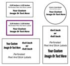 Custom Labels Personalized Stickers Seals Shipping Address Tags 2 Inch To 6 Inch