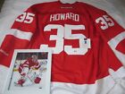 Reebok Jimmie Howard # 35, Detroit Red Wings Autographed NHL Game Jersey & Photo