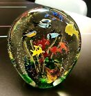 EXCELLENT LARGE MURANO CRYSTAL ART GLASS FISH TANK AQUARIUM SCULPTURE