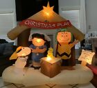 Gemmy Airblown Inflatable Peanuts Christmas Play Nativity Charlie Brown Snoopy