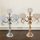 2 Color 5Arm Crystal Candelabra Votive Candle Holders Wedding Table Centerpieces