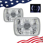 7Inch 7X6 H4 H6052 H6054 V2 Clear Glass Lens White Led Projector Headlights