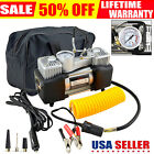 Heavy Duty Electric Air Compressor Car Tire Pump Inflator Auto Double Cylinder