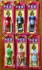 PEZ Original 6 Body Parts: Red Dress, Skeleton, Maid, Robin Hood, Tarzan & Nurse