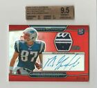 2010 Topps Platinum Rob Gronkowski Auto Red 05 10 Autograph Relic Rookie RC BGS