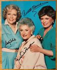 Golden Girls Signed Autographed 11x14 Photo JSA Letter White McClanahan Arthur