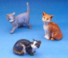 Fontanini Cats Italian Nativity Village Figurines Set of 3