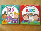 MY FIRST WORDS 123 and ABC 2 BOARD BOOKS toddler boy girl NEW