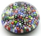 Outstanding PARABELLE Colorful Mixed MILLEFIORI CANES Art Glass PAPERWEIGHT
