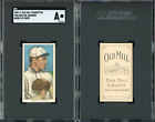 T206 Walter Johnson hands at chest tobacco card - Old Mill - SGC Auth HOF