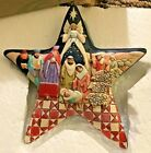 Jim Shore Heartwood Creek Nativity Scene Star Christmas Ornament 4010627 New