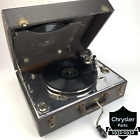 Boetsch BrosNY Portab Hand Crank Phonograph Record Player Model 60 Tested Works