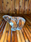 Vintage Hadeland Crystal Glass Polar Bear Figurine Paperweight Norway