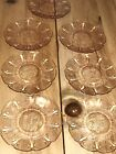 Jeannette Cherry Blossom Pink Depression Glass Saucer Plate Dish 55 Set of 7