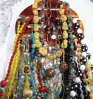 Vintage Bead Necklace Lot 17 Beautiful Glass Crystal Quality Mixed Estate Group